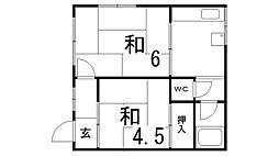 下原マンション[3階]の間取り