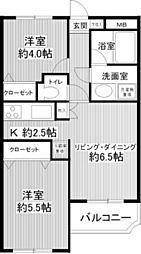 グランバリュー羽田 bt[406kk号室]の間取り