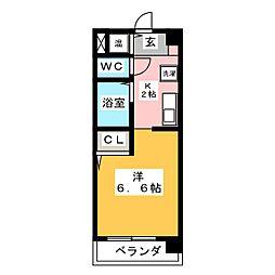 エトワール神宮[6階]の間取り