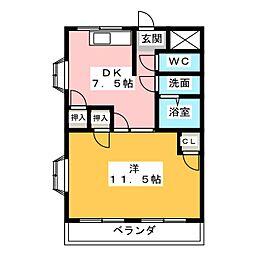 グレース鶴見二番館[3階]の間取り
