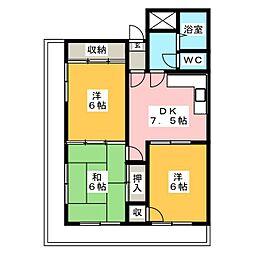 ロイヤルメゾンHAMADA[5階]の間取り