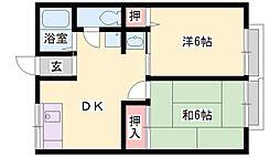 シティハイム平岡[102号室]の間取り