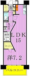 ロイヤルパークス西新井[10階]の間取り