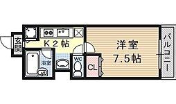 シェリール山崎[102号室号室]の間取り