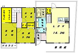 [テラスハウス] 福岡県福岡市東区奈多2丁目 の賃貸【/】の間取り