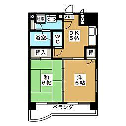 コーポフジサワ仙台[3階]の間取り