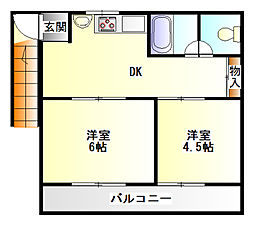 小西ビル[2階]の間取り