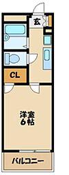 JR横浜線 淵野辺駅 徒歩14分の賃貸マンション 3階1Kの間取り