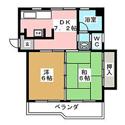 シャンティ河原町[3階]の間取り
