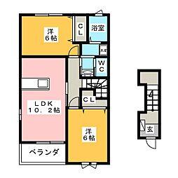 グラン・パラッツオI・II[2階]の間取り