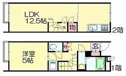 レオネクストアーバン須恵中央[2階]の間取り