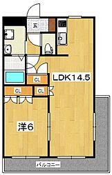 ボールド・ラ・メール[301号室号室]の間取り