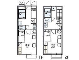 レオパレスリバーポートⅡ[2階]の間取り