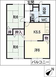 メゾンファミリーユ A棟[2階]の間取り