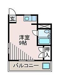 コーポなぎさ[4階]の間取り