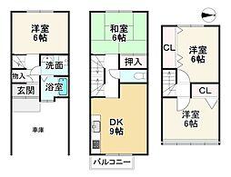 京福電気鉄道嵐山本線 帷子ノ辻駅 徒歩7分 4DKの間取り