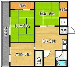 第16上野ビル[3階]の間取り