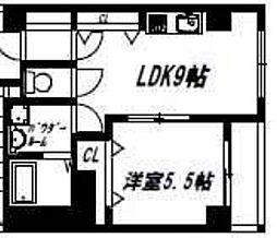 リックリグ塚本[601号室]の間取り