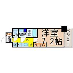 愛知県名古屋市中村区若宮町3丁目の賃貸マンションの間取り