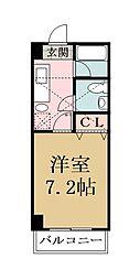 メゾン朋泉高砂[501号室]の間取り