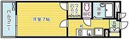 レオパレスKAZU[1階]の間取り