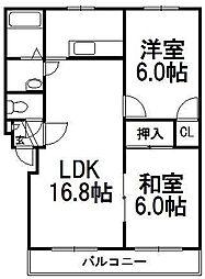 エレガンス47[3階]の間取り