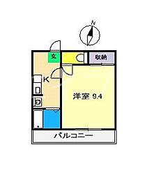 コーポF[4階]の間取り