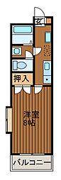 サンビーム大野[2階]の間取り