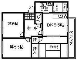 フレグランス高松[2階]の間取り