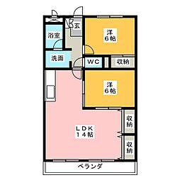 メゾン島田[6階]の間取り