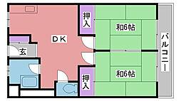 浦風マンション[205号室]の間取り