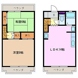 センチュリーハイツ21[2階]の間取り