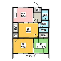 メゾン平成[1階]の間取り