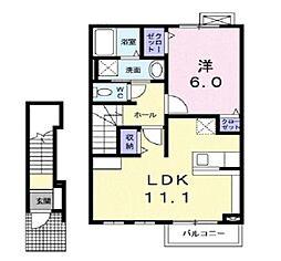 ブライトハウスII[2階]の間取り