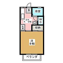 クライン・ブリュッケ B棟[2階]の間取り
