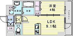 Osaka Metro御堂筋線 新大阪駅 徒歩8分の賃貸マンション 5階1LDKの間取り