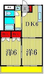 千多慶マンション[3階]の間取り