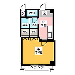 AG HOUSE B棟[3階]の間取り