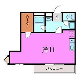 大府市 プラシードマンション中央[0301号室]の間取り