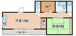 兵庫県神戸市長田区駒ケ林町1丁目の賃貸マンションの間取り