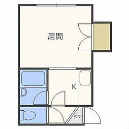 ロアール新札幌C[1階]の間取り