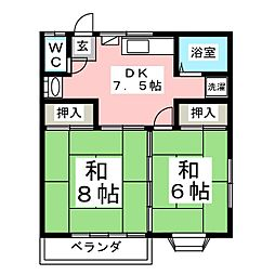 ファミール吉岡[2階]の間取り