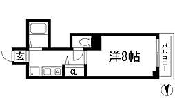 ディアコート川西弐番館[6階]の間取り