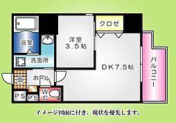 KatayamaBLDG22--[501号室]の間取り