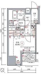 東京メトロ日比谷線 築地駅 徒歩5分の賃貸マンション 5階1Kの間取り