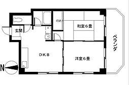 神奈川県横浜市中区上野町1丁目の賃貸マンションの間取り