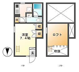 Ami Kanayama[1階]の間取り
