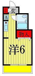 パレ・ドール亀有II[210号室]の間取り