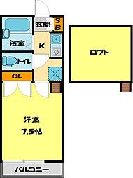 ハウスサンライズ[208号室]の間取り