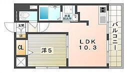 M'プラザ香里六番館[4階]の間取り